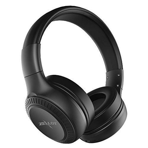 Bluetooth On-the-ear Headphones ZEALOT B20 Wireless / Wired Supra-Aural Earmuff Headset with Replaceable Battery(Black). Bluetooth Capable, applying the latest version 4.0 for A2DP Profile. Headphones no power? Plug a standard 3.5mm AUX cable, it's Wired-Enable too!. Dual large passive driver giving powerful bass response, and Supra-Aural design brings effective sound isolation. Collapsible for easy storage, flexible and durable headband, protein leather ear cups allow prolonged use....