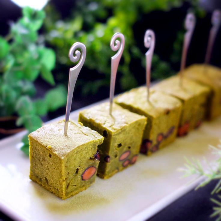 picchin's dish photo sakurakoさんの料理 大納言入り抹茶のガートショコラ | http://snapdish.co #SnapDish #レシピ #お正月 #ケーキ #バレンタイン #抹茶の日(2月6日)