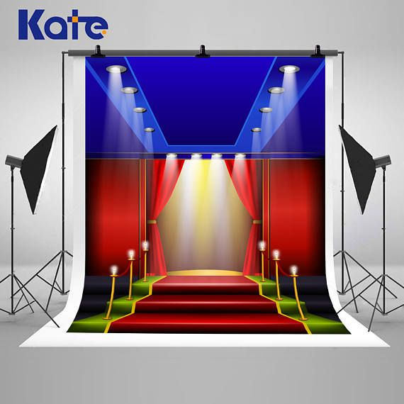 Red Carpet Spotlight Shiny Photography Backdrops Grand