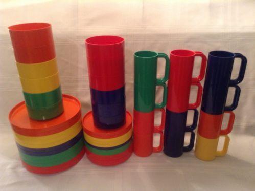 Remember these? Heller Massimo Vignelli 48-Piece Dinnerware Set for 12 Melamine Mid-Century. Sold on eBay for $199 mar. 2014 www.SnapPost.com