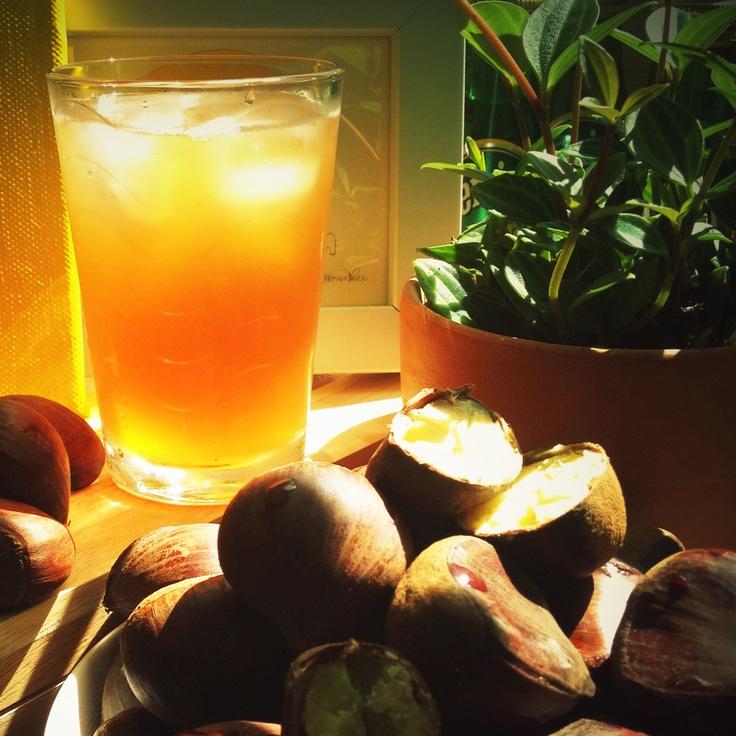 chestnut & pear juice