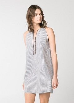 Neckholder-Kleid mit Kordel