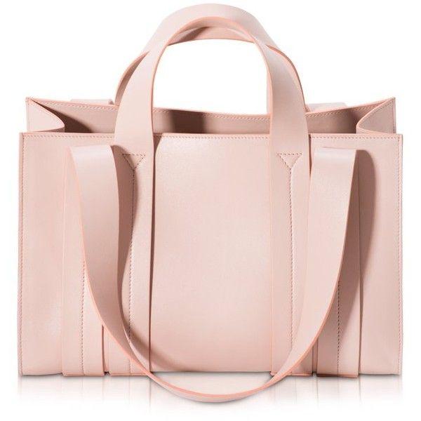 Corto Moltedo Handbags Costanza Beach Club Medium Natural Nappa... found on Polyvore featuring bags, handbags, tote bags, purses, nude, tote hand bags, pink tote bag, man tote bag, pink hand bags and man bag