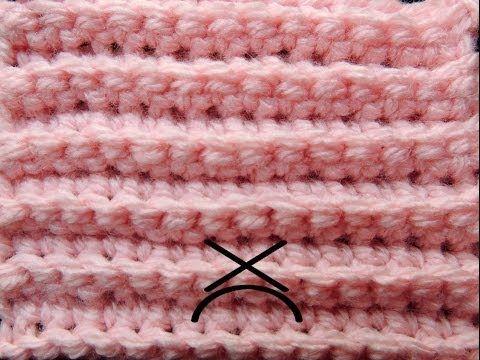 Curso Básico de Crochet : Punto Bajo tomando la Hebra Posterior - YouTube