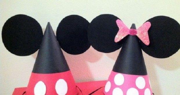 Como hacer gorros de Mickey y Minnie Mouse | Ideas para Decoracion