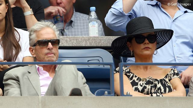And she wasn't the only star at the final - Michael Douglas and Catherine Zeta-Jones were there too.
