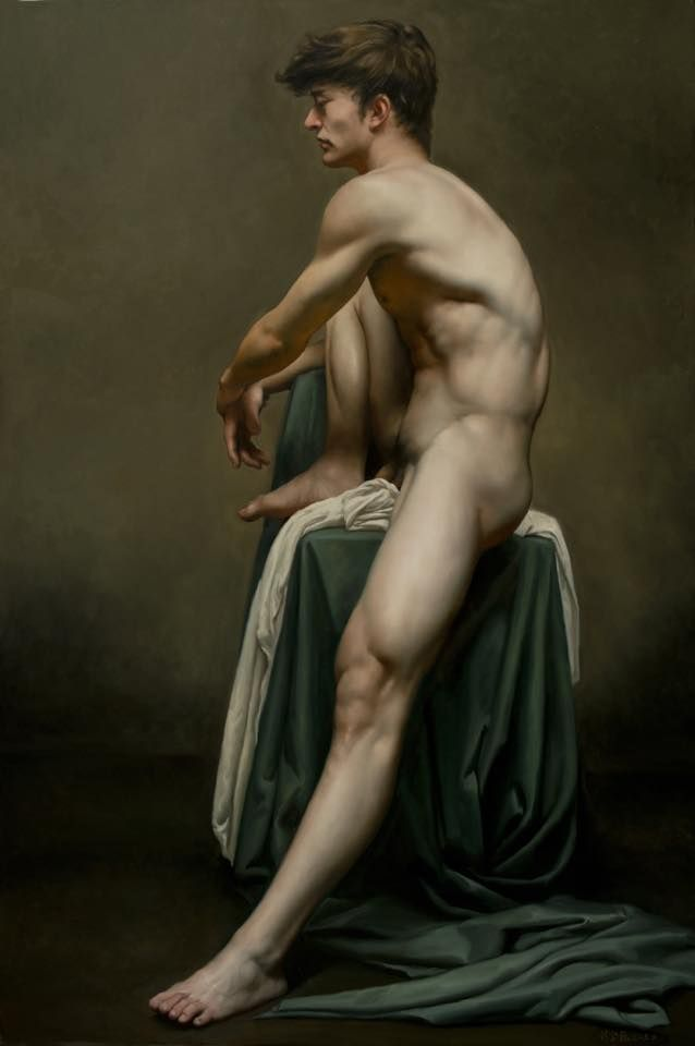 Oil painting nude lovers