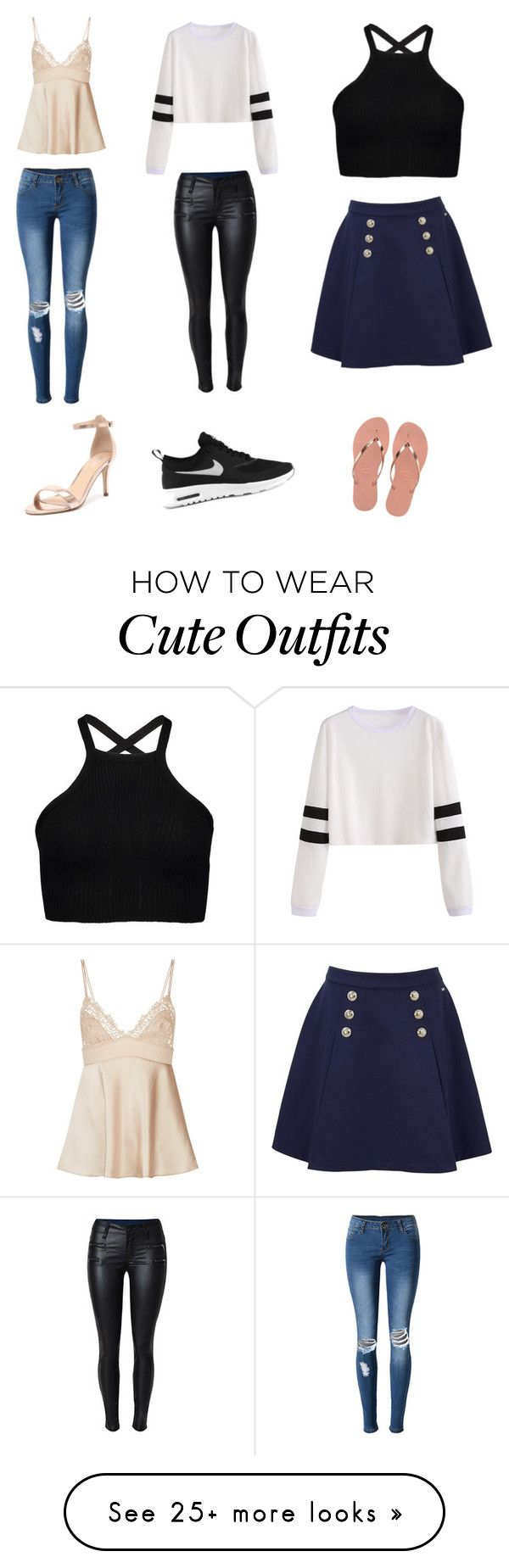 """""""Cute Stylish Outfits """" by lsantana13 on Polyvore featuring WithChic, Verali, NIKE, Tommy Hilfiger and Havaianas"""