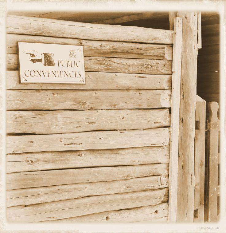 Helpful signage, Pioneer Settlement, Swan Hill, Victoria