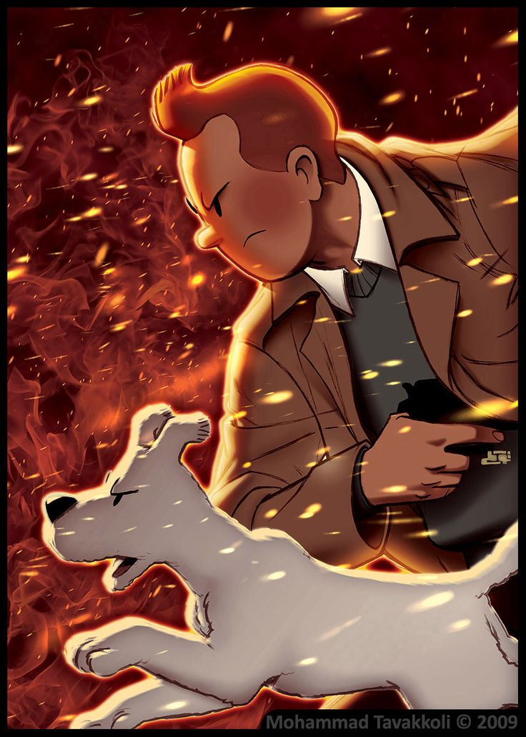 """Tintin : Burning Dust Storm"" - By ~memotava"