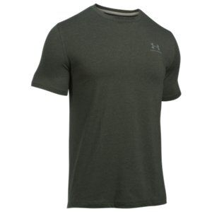 Under Armour Mens Charged Cotton T-Shirt UA Branding Training Gym Green