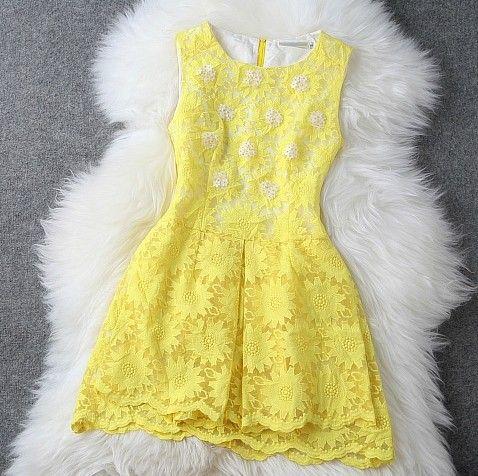 Embroidery Stitching Organza Dress