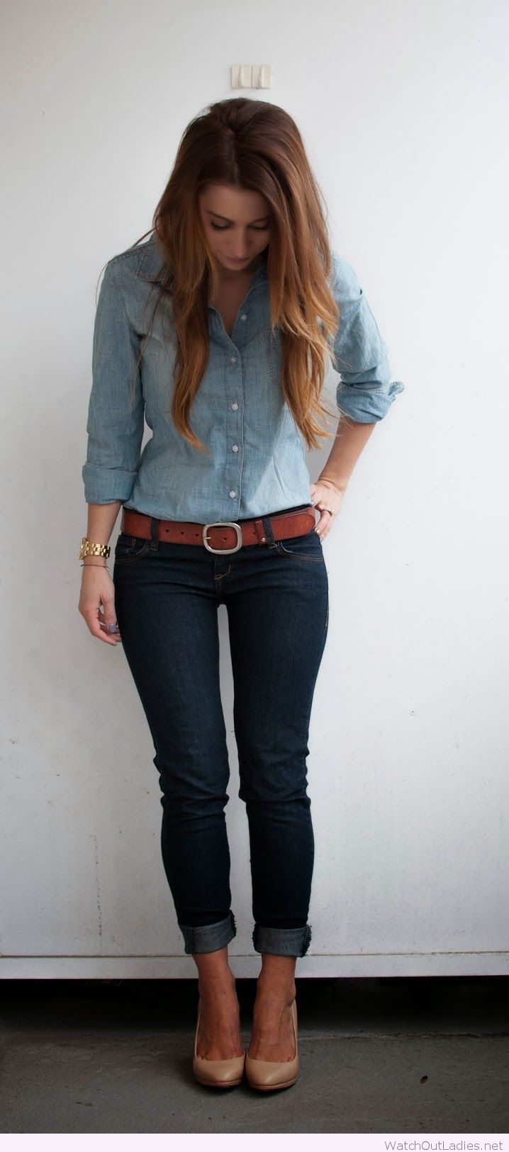 Amazing denim on denim look