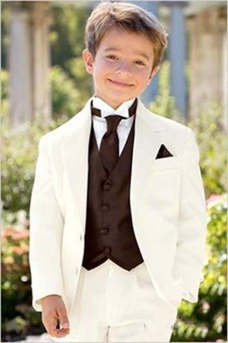 3 Piece Flower Children's Formal Party Tuxedos Boy's Wedding Groomsmen New Suits