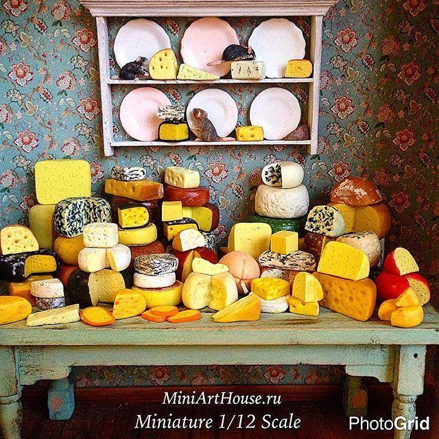 "RepostBy @miniarthouse: ""🧀🧀🧀#miniature #polimerclay #polimerclayfood #dollhouseminiatures #cheese #food #handmade #table #yellow #dorblue #dorbluecheese #miniarthouse #миниатюра #полимернаяглина #кукольнаяминиатюра #сыр #сыры #дорблю #ручнаяработа #стол #желтый #миниартхаус"""