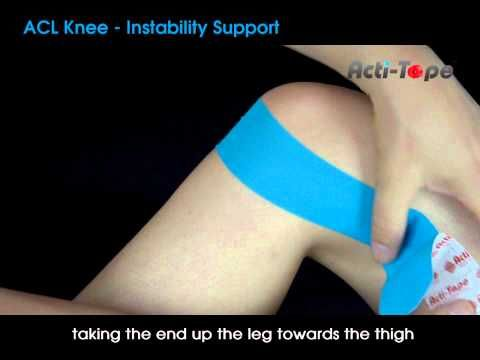 Acti-Tape - ACL Knee - Instability Support - https://www.youtube.com/watch?v=T-rjQ0wS3Tk