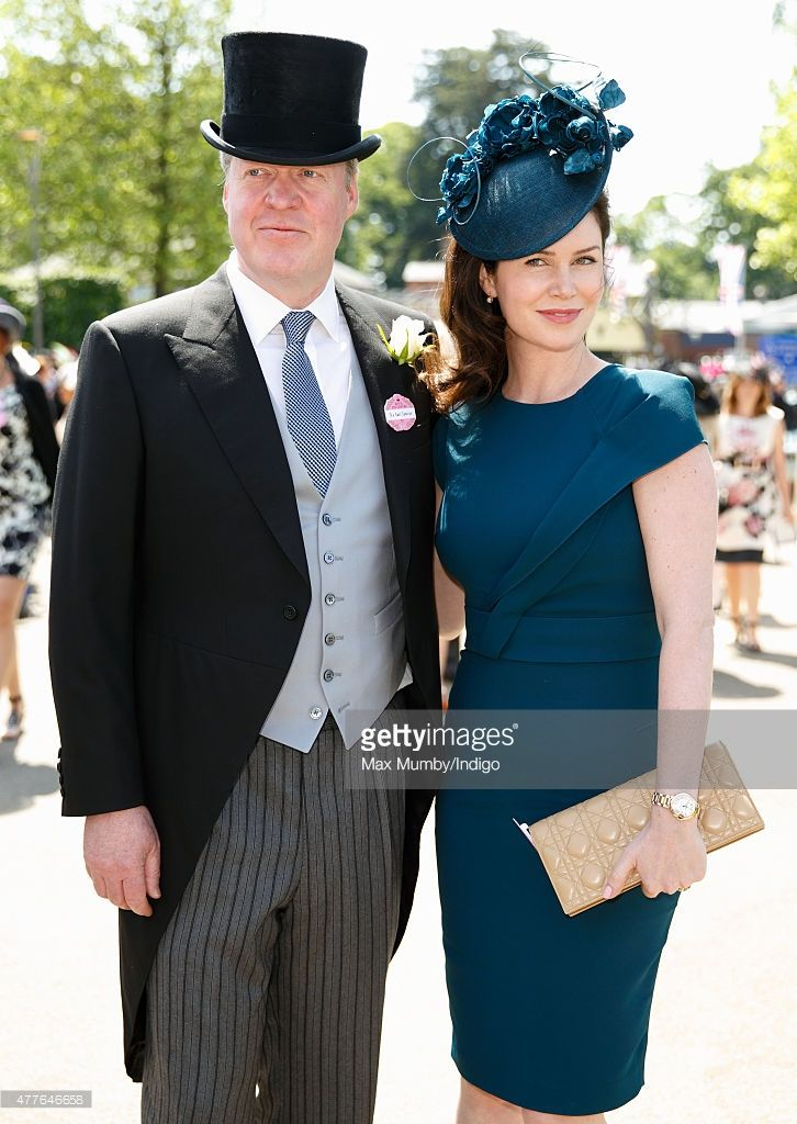 OMG hat! --> (EMBARGOED FOR PUBLICATION IN UK NEWSPAPERS UNTIL 48 HOURS AFTER CREATE DATE AND TIME) Earl Charles Spencer and Countess Karen Spencer attend day 3, Ladies Day, of Royal Ascot at Ascot Racecourse on June 18, 2015 in Ascot, England. (Photo by Max Mumby/Indigo/Getty Images)