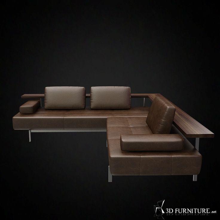 rolf benz dono corner sofa 3d furniture model use promo code pin3d and get 30 off. Black Bedroom Furniture Sets. Home Design Ideas