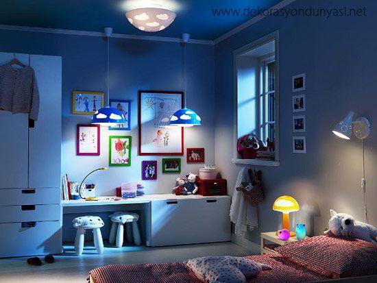 çocuk odaları için aydınlatma