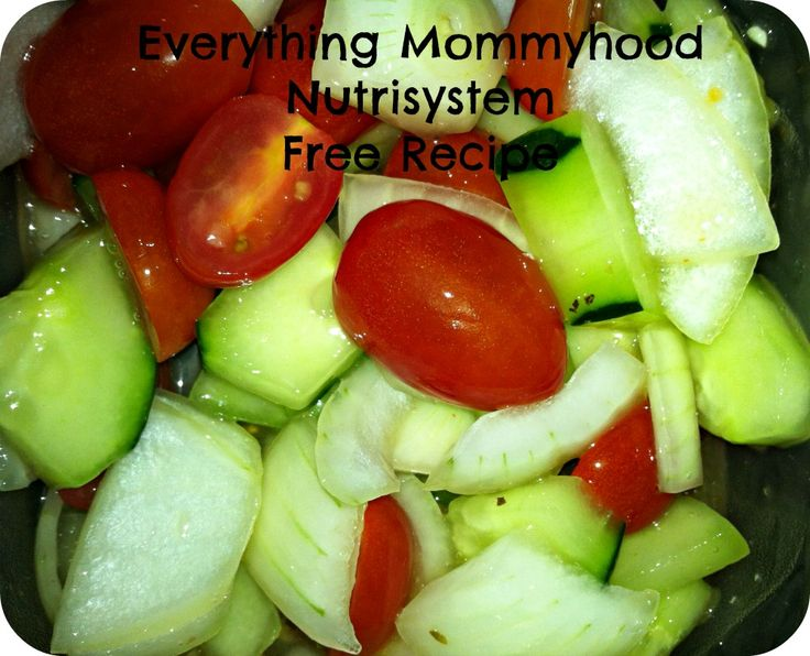 Nutrisystem Vegetable Recipe - Tomatoes, Cucumbers, and Onions | Everything Mommyhood