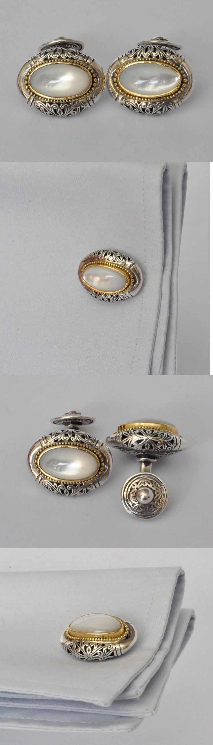 Cufflinks 137843: Konstantino Cufflinks Oval Mother Of Pearl 18K Yellow Gold Sterling Silver New -> BUY IT NOW ONLY: $760 on eBay!