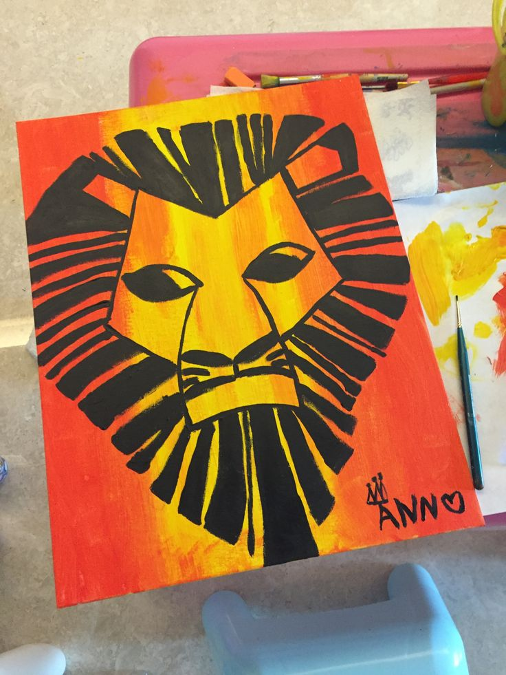 """Hakuna Matata"" from the Lion King. Art piece adapted from TLK musical poster. 24 Dec 2015."