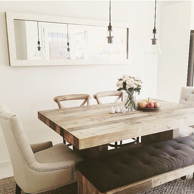 Great styling by @hey_im_s ft our Emmerson Dining Table + Bench #mywestelm #interiordesign #melbourne