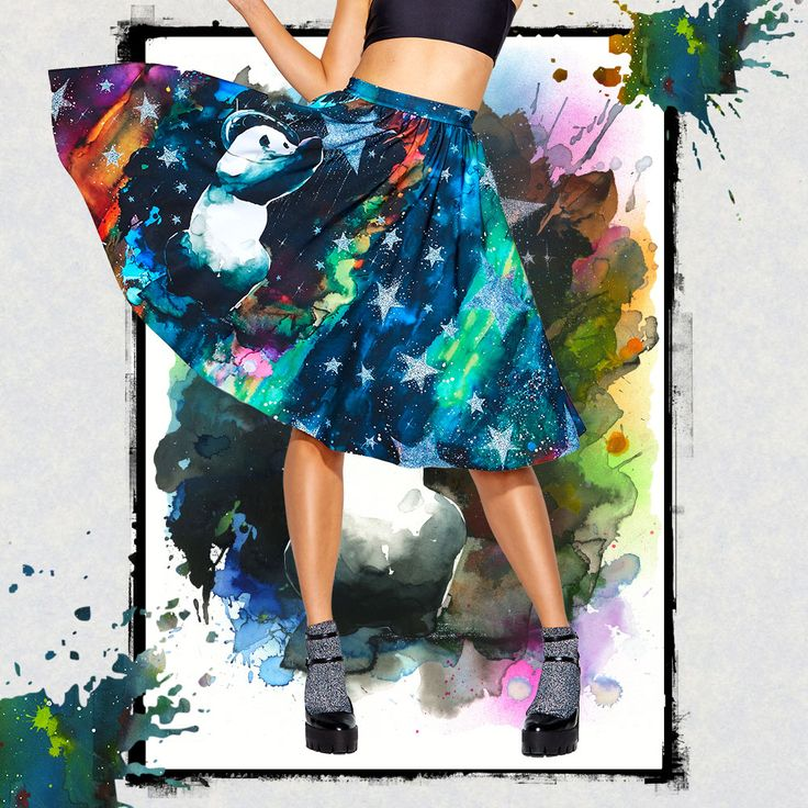 Collecting Stardust Pocket Midi Skirt - 48HR ($120AUD) by BlackMilk Clothing
