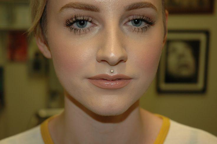 Healed #philtrum #medusa #piercing with #neometal #white #opal .  #bodypiercing #imperialbodyart #imperial #tattoo #meridian #idaho