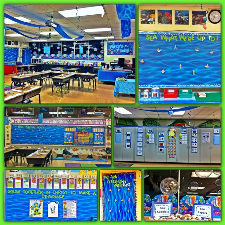 """My """"Under the Sea"""" themed classroom this year!"""