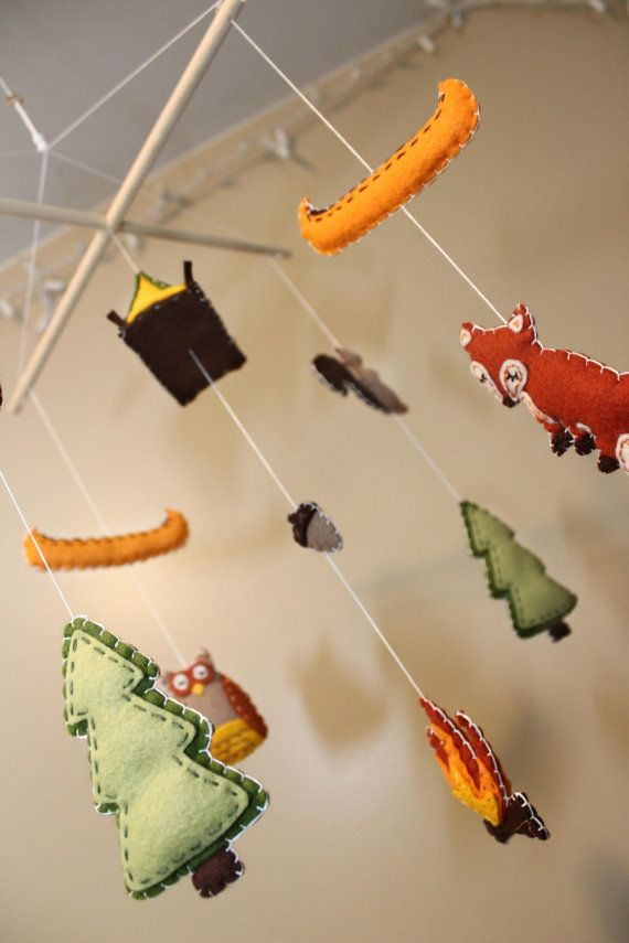 Autumn Camping / Woodsy / Rustic  Baby Mobile by EmilysSpace, $58.00