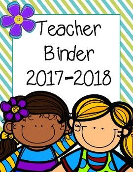 This 122 page teacher binder is the perfect tool to help you stay organized throughout the school year. This binder includes tons of organizational dividers with cute clip art, charts & logs. I've also included two calendar options for August 2017-July 2018, and a weekly lesson plan template.