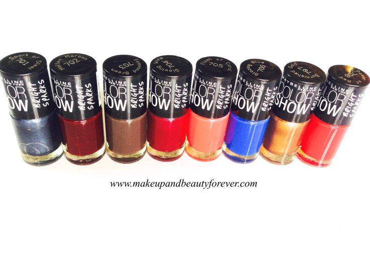 All Maybelline Color Show Bright Sparks Nail Color Haul   http://www.makeupandbeautyforever.com/all-maybelline-color-show-bright-sparks-nail-color-haul/