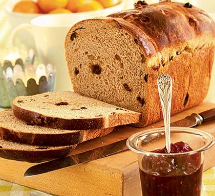 Christmas morning spiced bread. This festive bread can be made ahead and frozen and makes a lovely treat for breakfast on Christmas morning.