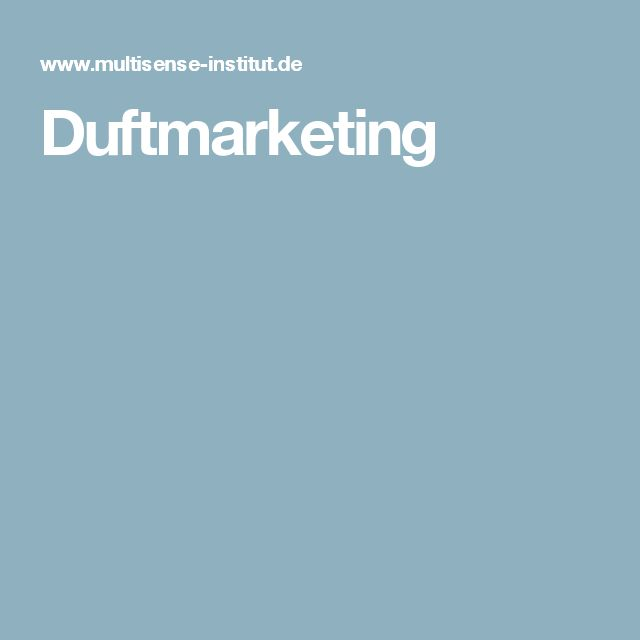 Duftmarketing