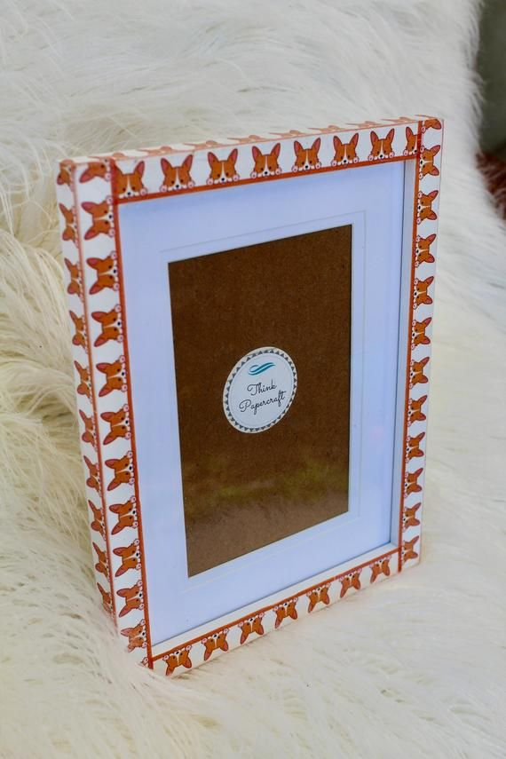 Corgi Dog Decorated Photo Picture Frame 4x6 Inches 10x15 Cms Mount Or Frame 6x8 Inches 15x20 Cms Doggie Memory Keepsake Gift Photo Decor Picture Frames Photo Picture Frames