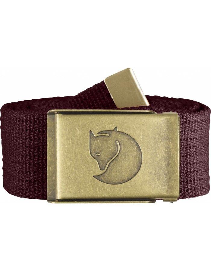 Fjellreven Canvas Brass Belt 4cm - Dark Garnet - 1SIZE