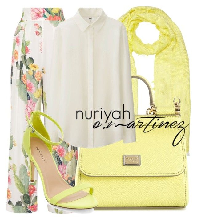 """""""Hijab Outfit #554"""" by hashtaghijab ❤ liked on Polyvore featuring John Lewis, Matthew Williamson, Dolce&Gabbana, Uniqlo and hijab"""