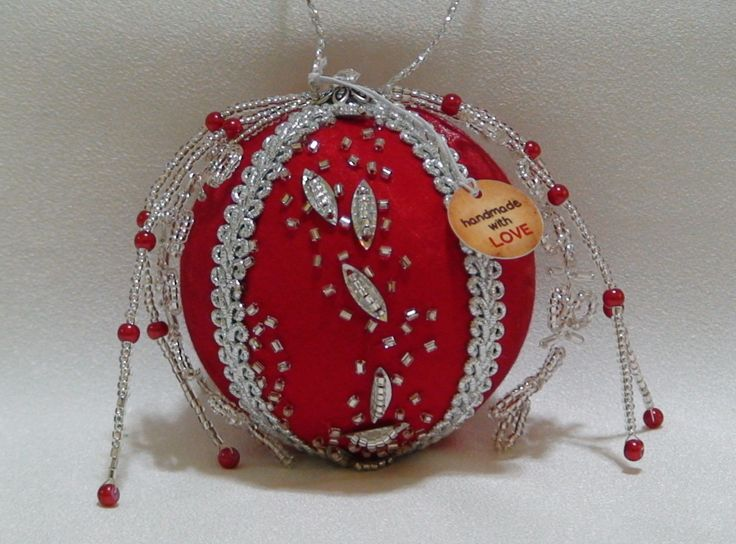 Shabby Chic Christmas Ball 31 by ShabbyChicXmas on Etsy