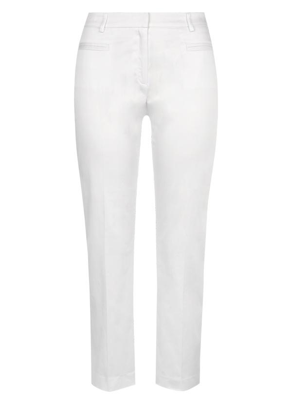 7/8 Stretch Cotton Trouser in White