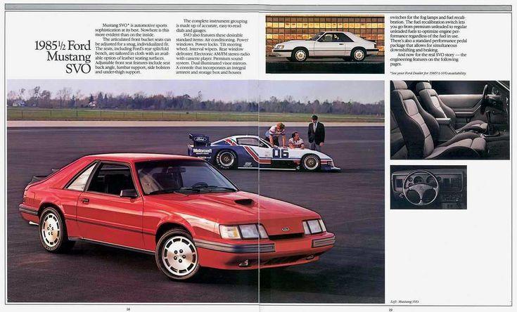 1985.5 Mustang SVO sales brochure