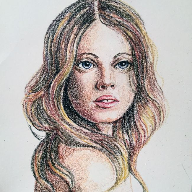 Crayon Portrait / Deidre Wicks