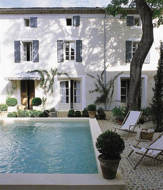 country.Swimming Pools, House Design, Backyards Pools, Stones Patios, Living Room Design, Design Interiors, Interiors Design, French Home, Design Home