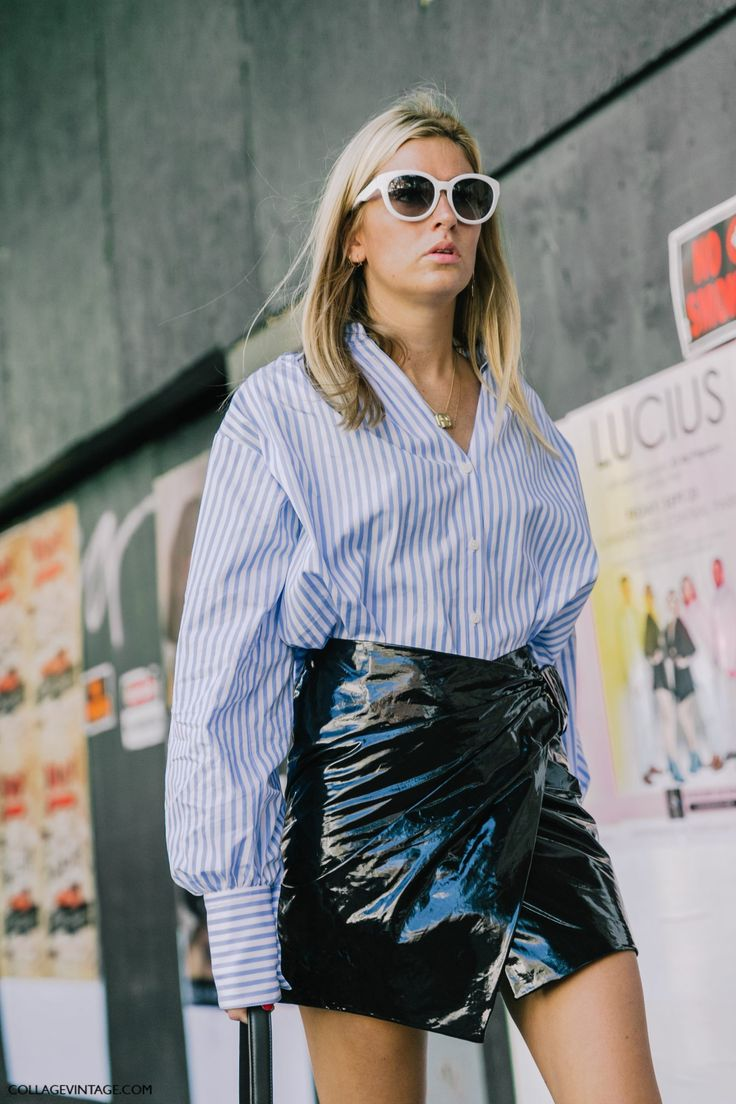 menswear button down meets patent leather