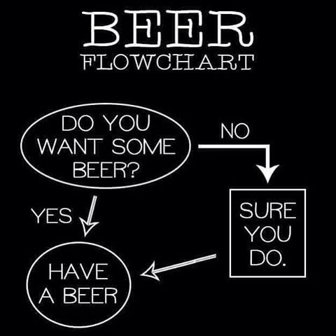 #mulpix It's Friday and it's time for a beer #beer #Friday #tgif #lol #meme #funny #flowchart #beers #brew #haha #awesome #weekend #HG #HGapparel