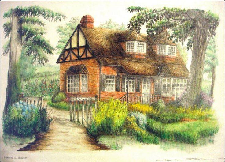 El mejor dibujo de un paisaje a lapiz a color imagui - Paisaje con colores calidos ...