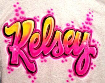 Gepersonaliseerde Custom airbrush T-Shirt; We kunnen elke verf naam of kleuren!