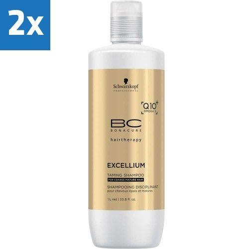 2x Schwarzkopf BC Excellium Taming Shampoo 1000ml  Description: Schwarzkopf Bonacure EXCELLIUM Taming Shampoo reinigt zacht herstelt de jeugdigheid van weerbarstig haar en bewaart de kleur ervan. De krachtige co-enzyme Q10 en Omega 3 stimuleert de haarwortel om de keratine productie te heractiveren. Het voedt en temt kroezelig haar voor glad haar vol vitaliteit. Gebruik:Aanbrengen op nat haar goed laten inwerken en na ca. 2 minuten uitspoelen. Voor weerbarstig haar.  Price: 35.50  Meer…