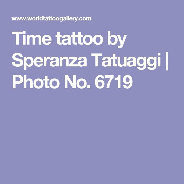 Time tattoo by Speranza Tatuaggi | Photo No. 6719