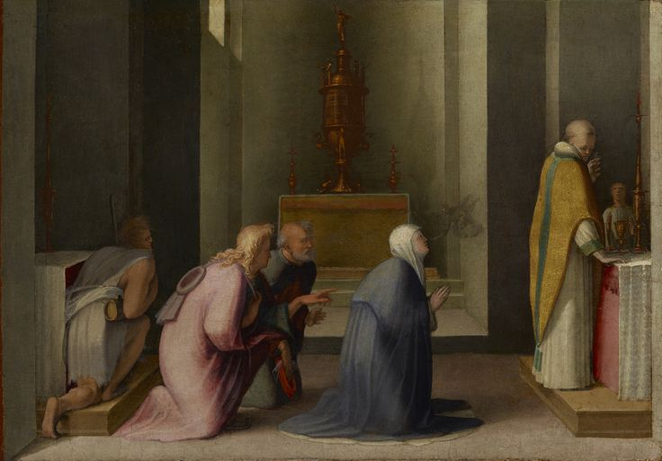 Domenico Beccafumi, Comunione di Santa Caterina, museo Getty, Los Angeles